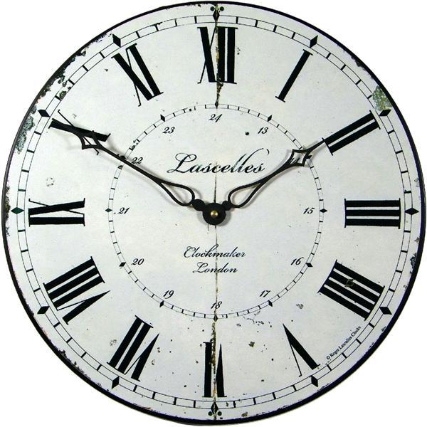 Velké nástěnné retro hodiny - Clockmaker Roger Lascelles (Velké nástěnné retro hodiny - Clockmaker Roger Lascelles)
