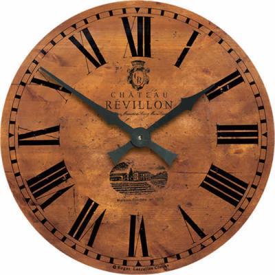 Velké nástěnné retro hodiny - hnědé - zámek Roger Lascelles (Velké nástěnné retro hodiny - hnědé - zámek Roger Lascelles)