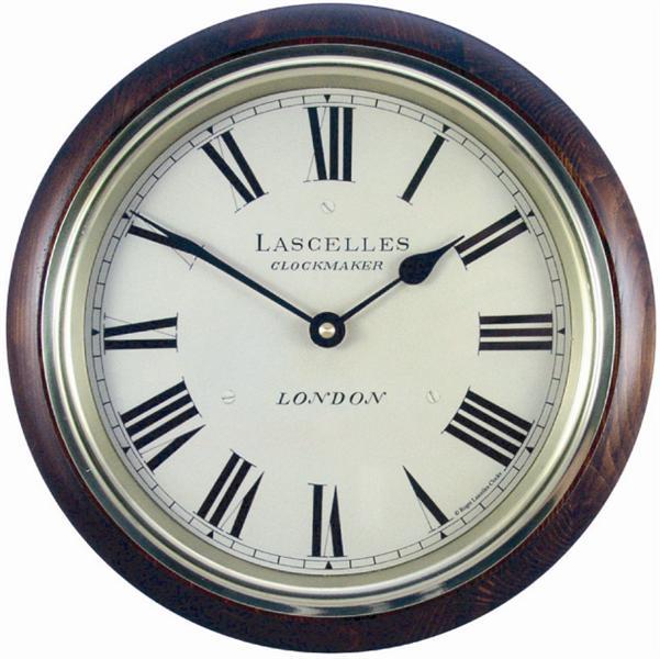 Dřevěné retro hodiny - Lascelles - Sklo (Dřevěné retro hodiny - Lascelles - Sklo )