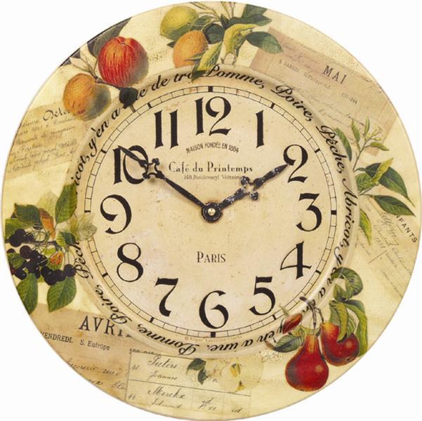 Nástěnné retro hodiny - Ovoce - plechové Roger Lascelles (Nástěnné retro hodiny - Ovoce - plechové Roger Lascelles)