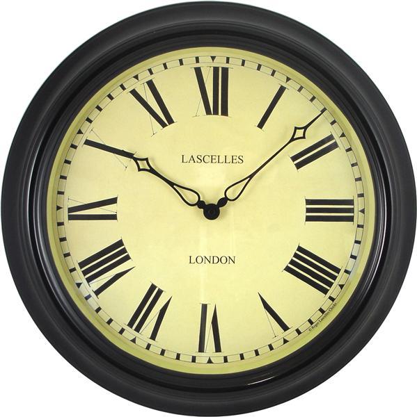 Nádražní hodiny - Station - černé Roger Lascelles (Nádražní hodiny - Station - černé Roger Lascelles)
