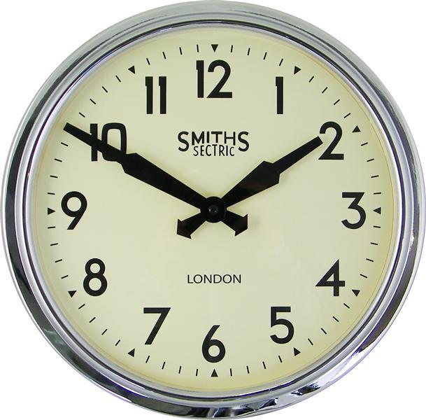Retro hodiny na zeď - Smiths - chrom Roger Lascelles (Retro hodiny na zeď - Smiths - chrom Roger Lascelles)
