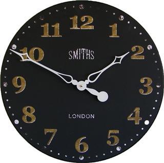 Velké retro hodiny na zeď - Smiths - černé Roger Lascelles (Velké retro hodiny na zeď - Smiths - černé Roger Lascelles)