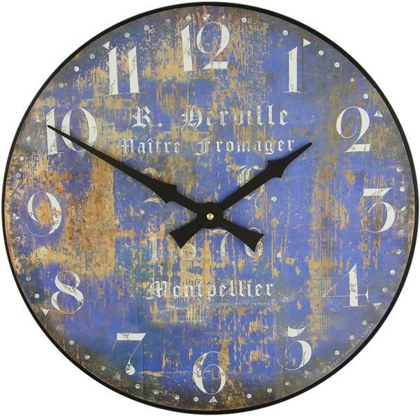 Velké hodiny na zeď - modré - Fromage Roger Lascelles (Velké hodiny na zeď - modré - Fromage Roger Lascelles)