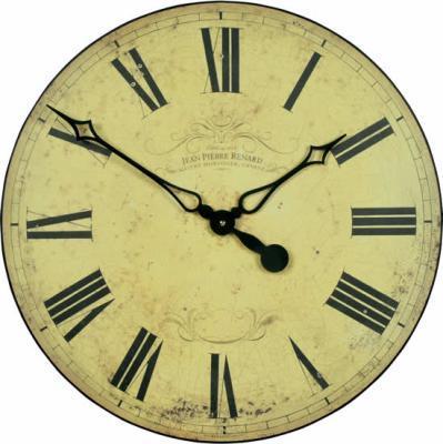Velké nástěnné retro hodiny - Geneva - římská čísla Roger Lascelles (Velké nástěnné retro hodiny - Geneva - římská čísla Roger Lascelles)