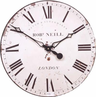 Velké nástěnné retro hodiny - bílé - Rob Neill Roger Lascelles (Velké nástěnné retro hodiny - bílé - Rob Neill Roger Lascelles)