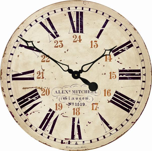 Velké nádražní retro hodiny - Železnice Roger Lascelles (Velké nádražní retro hodiny - Železnice Roger Lascelles)