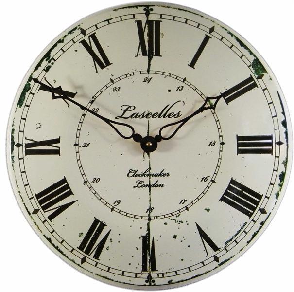 Velké nástěnné hodiny smaltové - Clockmaker Roger Lascelles (Velké nástěnné hodiny smaltové - Clockmaker Roger Lascelle)