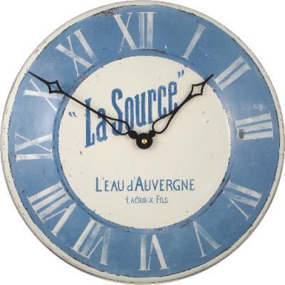 Velké smaltové hodiny na zeď - modré Roger Lascelles (Velké smaltové hodiny na zeď - modré Roger Lascelles)
