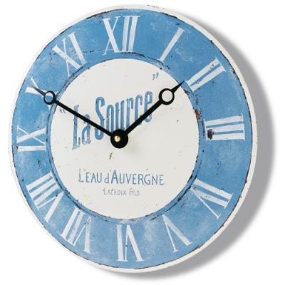 Smaltové retro hodiny na zeď - Source - modré Roger lascelles (Smaltové retro hodiny na zeď - Source - modré Roger lascelles)