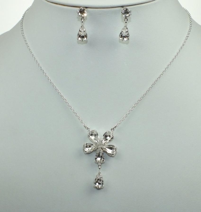 Svatební souprava bižuterie náhrdelník a náušnice (Svatební souprava bižuterie náhrdelník a náušnice)