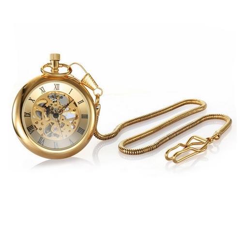 Kapesní retro hodinky zlacené cibule POŠTOVNÉ ZDARMA