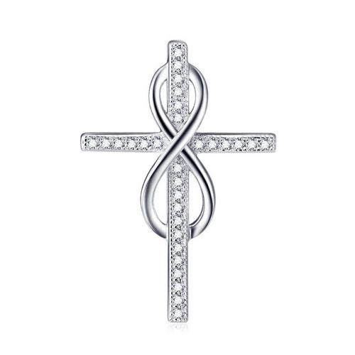 Stříbrný přívěšek křížek nekonečno Ag 925/1000 POŠTOVNÉ ZDARMA