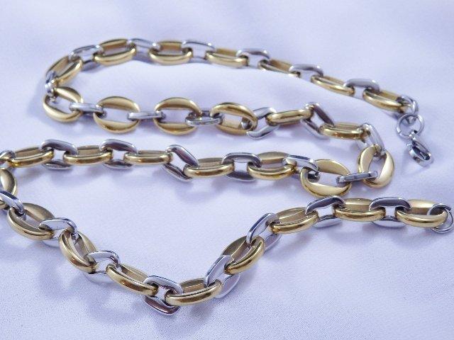 Pánský mohutný řetízek 10 mm chirurgická ocel
