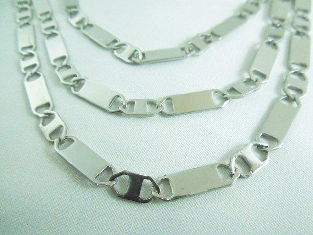 Pánský plochý řetízek 5 mm chirurgická ocel