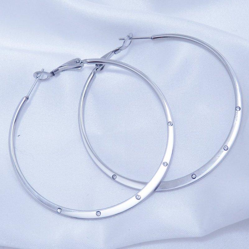 Náušnice kruhy 55 mm chirurgická ocel POŠTOVNÉ ZDARMA
