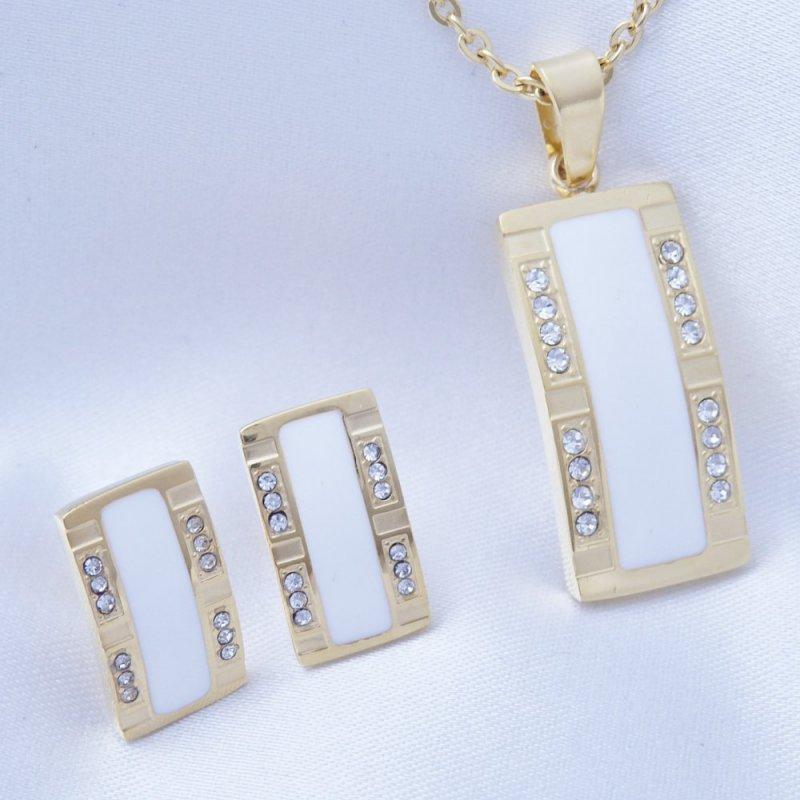 Souprava elegantní náušnice, náhrdelník chirurgická ocel