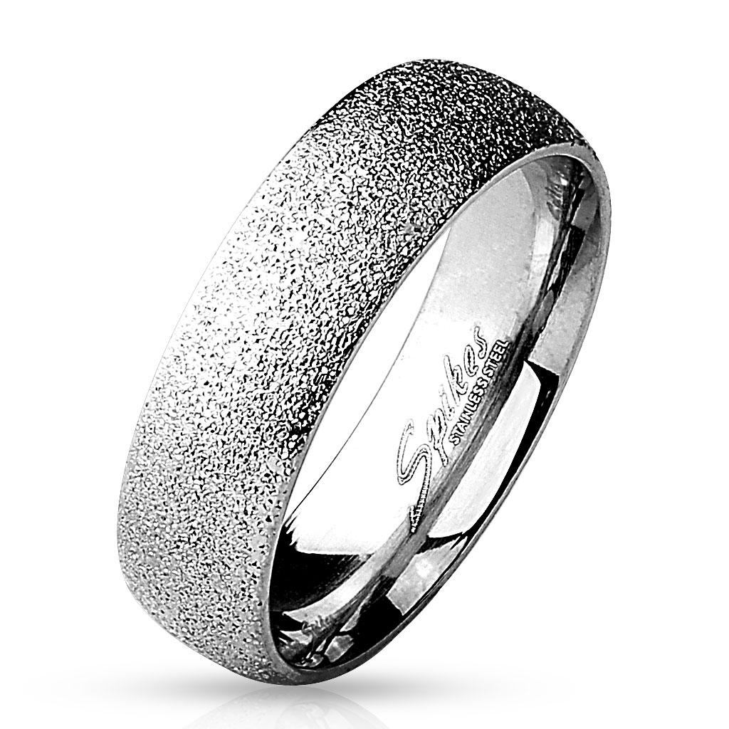 Prsten pískovaný 6 mm chirurgická ocel