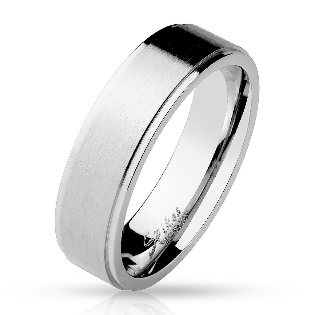 Prsten matný 6 mm chirurgická ocel