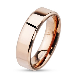 Zlacený snubní prsten chirurgická ocel