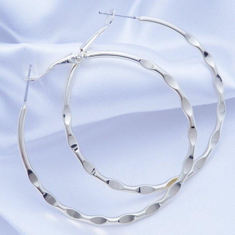 Náušnice kruhy zlacené 50 mm chirurgická ocel POŠTOVNÉ ZDARMA