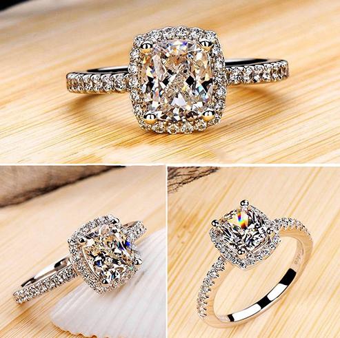 Luxusní stříbřený prsten kubický zirkon POŠTOVNÉ ZDARMA